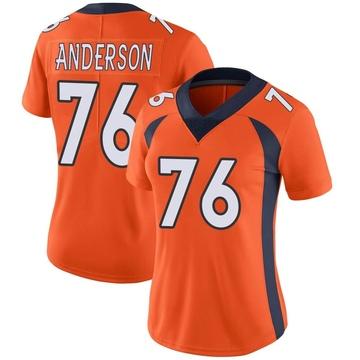 Women's Nike Denver Broncos Calvin Anderson Orange Team Color Vapor Untouchable Jersey - Limited