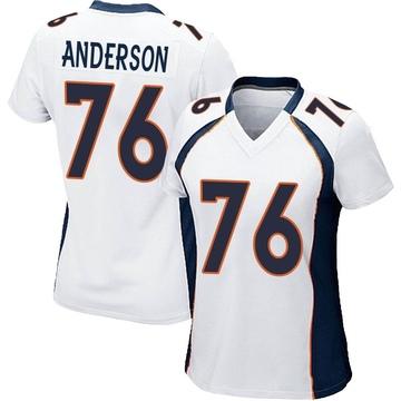 Women's Nike Denver Broncos Calvin Anderson White Jersey - Game