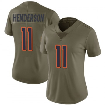 Women's Nike Denver Broncos Carlos Henderson Green 2017 Salute to Service Jersey - Limited