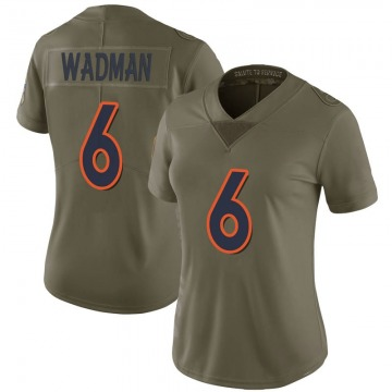 Women's Nike Denver Broncos Colby Wadman Green 2017 Salute to Service Jersey - Limited