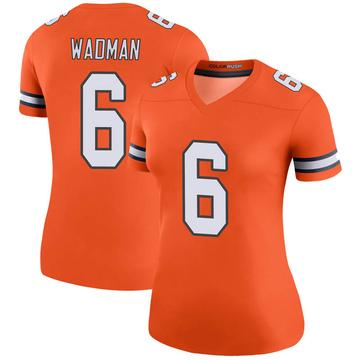 Women's Nike Denver Broncos Colby Wadman Orange Color Rush Jersey - Legend