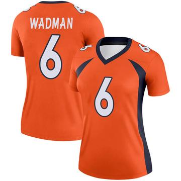 Women's Nike Denver Broncos Colby Wadman Orange Jersey - Legend