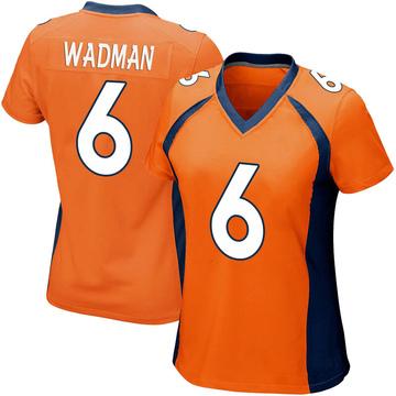 Women's Nike Denver Broncos Colby Wadman Orange Team Color Jersey - Game