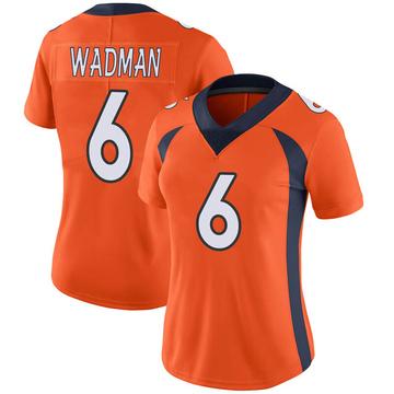 Women's Nike Denver Broncos Colby Wadman Orange Team Color Vapor Untouchable Jersey - Limited