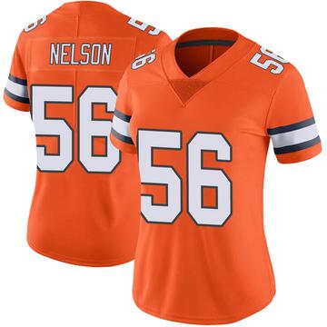 Women's Nike Denver Broncos Corey Nelson Orange Color Rush Vapor Untouchable Jersey - Limited