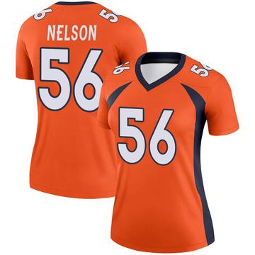 Women's Nike Denver Broncos Corey Nelson Orange Jersey - Legend