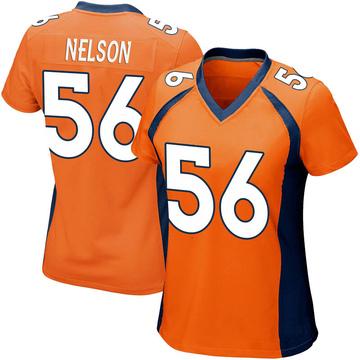 Women's Nike Denver Broncos Corey Nelson Orange Team Color Jersey - Game