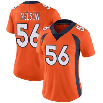 Women's Nike Denver Broncos Corey Nelson Orange Team Color Vapor Untouchable Jersey - Limited