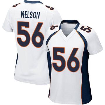 Women's Nike Denver Broncos Corey Nelson White Jersey - Game