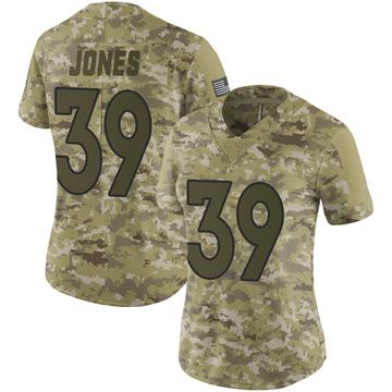 Women's Nike Denver Broncos Cyrus Jones Camo 2018 Salute to Service Jersey - Limited