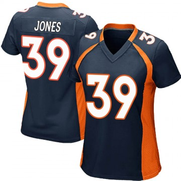 Women's Nike Denver Broncos Cyrus Jones Navy Blue Alternate Jersey - Game