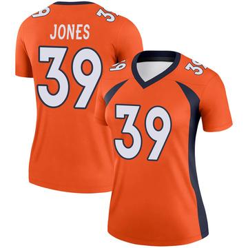 Women's Nike Denver Broncos Cyrus Jones Orange Jersey - Legend