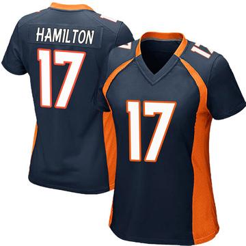 Women's Nike Denver Broncos DaeSean Hamilton Navy Blue Alternate Jersey - Game