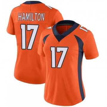 Women's Nike Denver Broncos DaeSean Hamilton Orange 100th Vapor Jersey - Limited