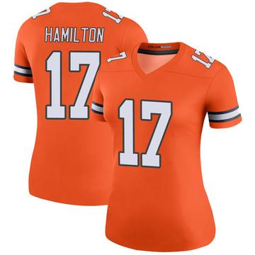 Women's Nike Denver Broncos DaeSean Hamilton Orange Color Rush Jersey - Legend