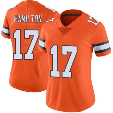 Women's Nike Denver Broncos DaeSean Hamilton Orange Color Rush Vapor Untouchable Jersey - Limited