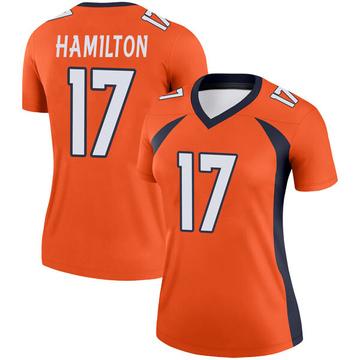 Women's Nike Denver Broncos DaeSean Hamilton Orange Jersey - Legend