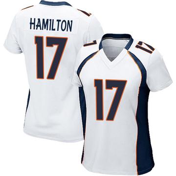 Women's Nike Denver Broncos DaeSean Hamilton White Jersey - Game