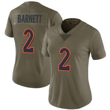 Women's Nike Denver Broncos Dante Barnett Green 2017 Salute to Service Jersey - Limited