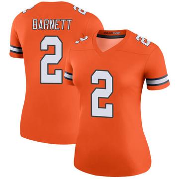 Women's Nike Denver Broncos Dante Barnett Orange Color Rush Jersey - Legend