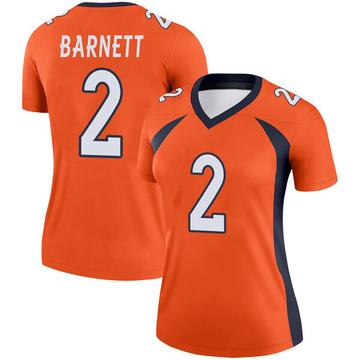 Women's Nike Denver Broncos Dante Barnett Orange Jersey - Legend