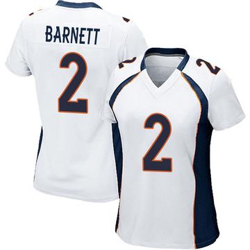 Women's Nike Denver Broncos Dante Barnett White Jersey - Game