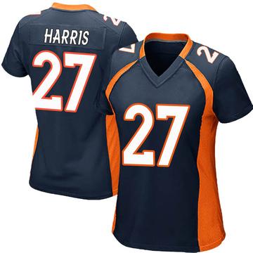 Women's Nike Denver Broncos Davontae Harris Navy Blue Alternate Jersey - Game