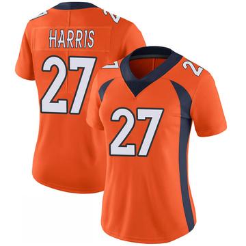 Women's Nike Denver Broncos Davontae Harris Orange 100th Vapor Jersey - Limited