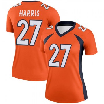 Women's Nike Denver Broncos Davontae Harris Orange Jersey - Legend