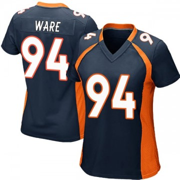 Women's Nike Denver Broncos DeMarcus Ware Navy Blue Alternate Jersey - Game