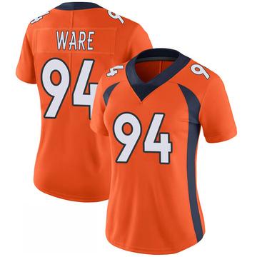 Women's Nike Denver Broncos DeMarcus Ware Orange 100th Vapor Jersey - Limited