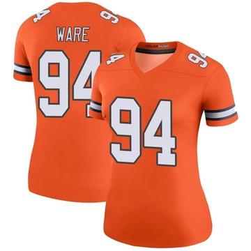 Women's Nike Denver Broncos DeMarcus Ware Orange Color Rush Jersey - Legend