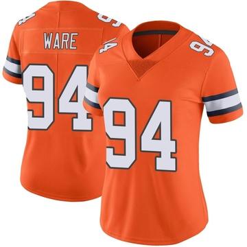 Women's Nike Denver Broncos DeMarcus Ware Orange Color Rush Vapor Untouchable Jersey - Limited