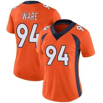 Women's Nike Denver Broncos DeMarcus Ware Orange Team Color Vapor Untouchable Jersey - Limited