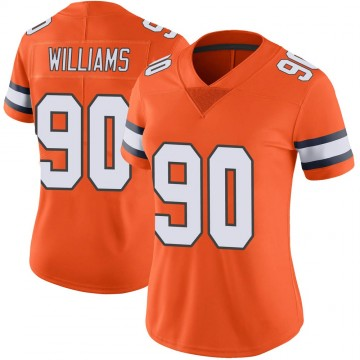 Women's Nike Denver Broncos DeShawn Williams Orange Color Rush Vapor Untouchable Jersey - Limited