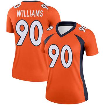 Women's Nike Denver Broncos DeShawn Williams Orange Jersey - Legend