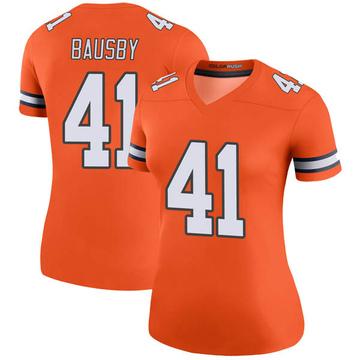 Women's Nike Denver Broncos De'Vante Bausby Orange Color Rush Jersey - Legend