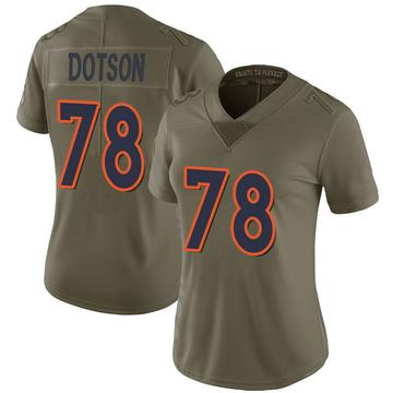 Women's Nike Denver Broncos Demar Dotson Green 2017 Salute to Service Jersey - Limited