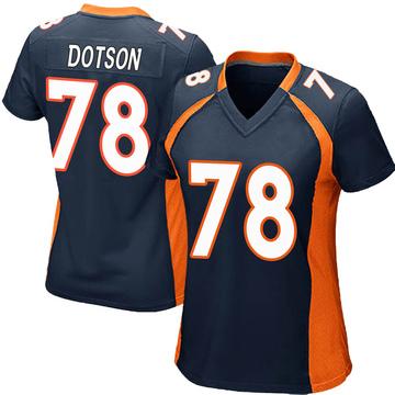 Women's Nike Denver Broncos Demar Dotson Navy Blue Alternate Jersey - Game