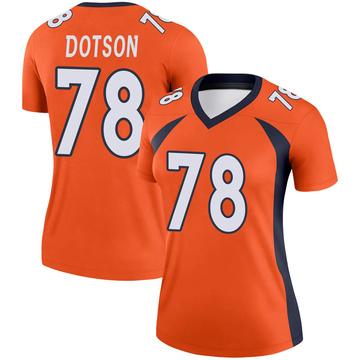 Women's Nike Denver Broncos Demar Dotson Orange Jersey - Legend