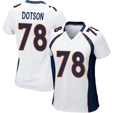 Women's Nike Denver Broncos Demar Dotson White Jersey - Game