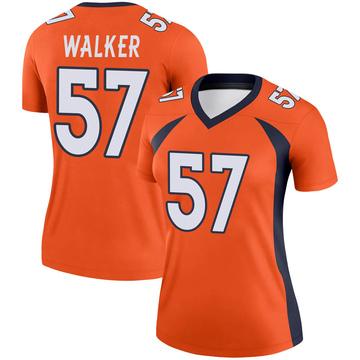 Women's Nike Denver Broncos Demarcus Walker Orange Jersey - Legend