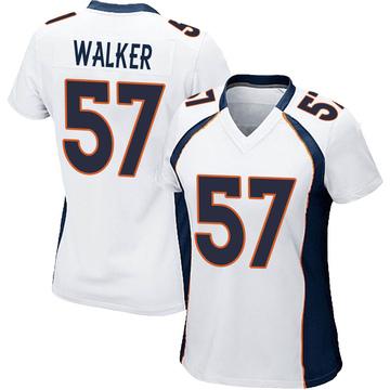 Women's Nike Denver Broncos Demarcus Walker White Jersey - Game