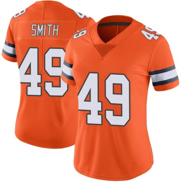 Women's Nike Denver Broncos Dennis Smith Orange Color Rush Vapor Untouchable Jersey - Limited