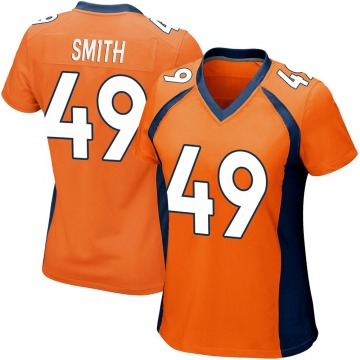 Women's Nike Denver Broncos Dennis Smith Orange Team Color Jersey - Game