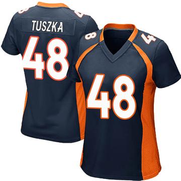 Women's Nike Denver Broncos Derrek Tuszka Navy Blue Alternate Jersey - Game