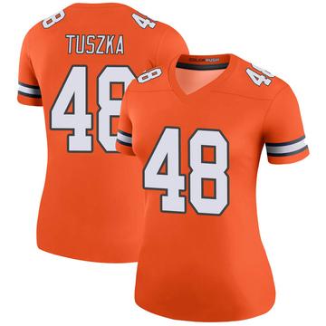 Women's Nike Denver Broncos Derrek Tuszka Orange Color Rush Jersey - Legend