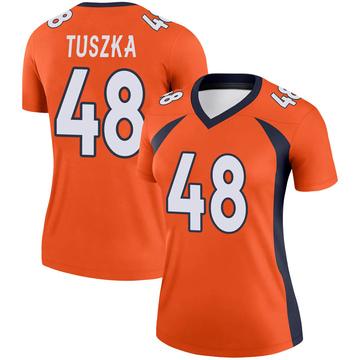 Women's Nike Denver Broncos Derrek Tuszka Orange Jersey - Legend