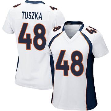 Women's Nike Denver Broncos Derrek Tuszka White Jersey - Game