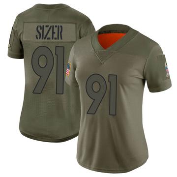 Women's Nike Denver Broncos Deyon Sizer Camo 2019 Salute to Service Jersey - Limited